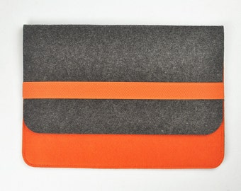 Dell tablet case ,7 inch tablet case,   8 inch tablet case, 10 inch tablet case, Felt tablet sleeve, Felt tablet bag. Orange bags, a192