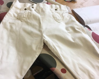Ivory cotton breeches