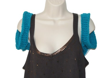 Trendy Shrug, Womens Shrug, Teal Bolero, Plus Size Shrug, Shrugs Boleros, Modern Shrug, Crochet Shrug, Summer Bolero, Plus Size Clothing,