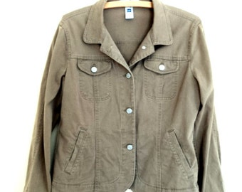 Khaki jacket. Vintage Gap brand. Small-Medium
