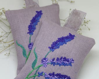 Scented Sachet Bags - Lavender Sachet Set of 2 - Lavender Scented Pillow - Lavender Pillow - French Lavender Scented Bags Embroidered