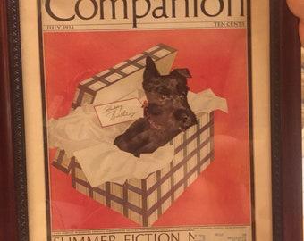 Woman's Home Companion July 1938 Summer Fiction Novel Poster