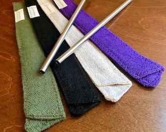 100% Hemp Fabric Straw Sleeves