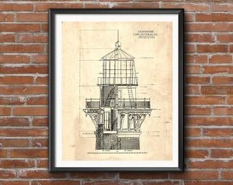 Lighthouse blueprint etsy malvernweather Image collections