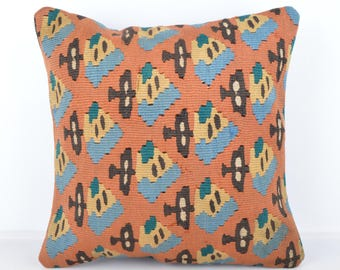 Wool Pillow, Kilim Pillow,  Decorative Pillows, Designer Pillows,  Bohemian Decor, Bohemian Pillow, Accent Pillows, Throw Pillows, tp1073