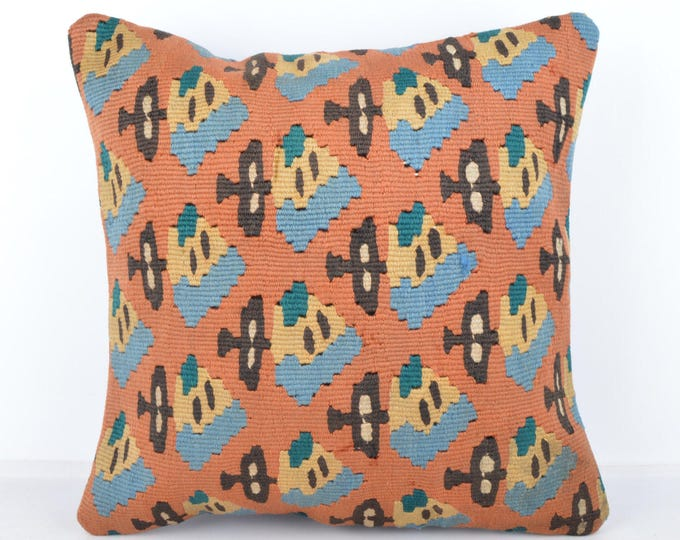 Wool Pillow, Kilim Pillow,  Decorative Pillows, Designer Pillows,  Bohemian Pillow, Accent Pillows, Throw Pillows, KP68 (tp1073)
