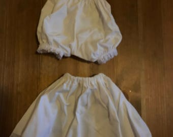 Matched Set of Vintage Doll Slip and Bloomers