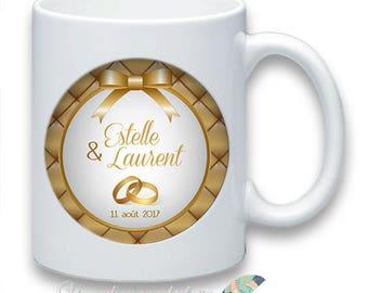 Mug wedding customize names date message #2