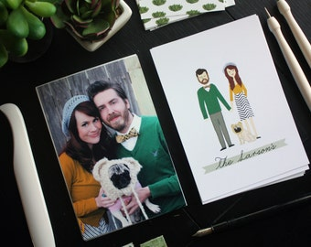 Family Portrait : Custom Illustrated