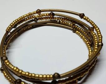 Bead & tube bracelet