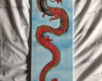 Japanese Dragon Canvas Painting