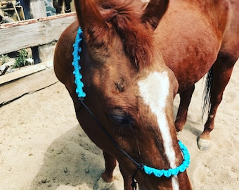 Turquoise and Black Rope Halter