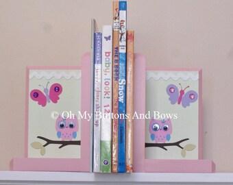 Nursery Bookends. Hand Beveled Edge Boutique Bookends. Nursery Room Decor . Name Blocks . PBK . Hayley bedding