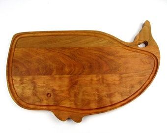 """A Large Whale Cutting Board - Cherry - 17"""" x 11 1/2"""" x 7/8"""" - Not damaged - just different!"""