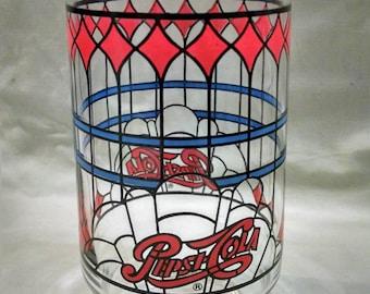 Vintage Pepsi Cola Glass