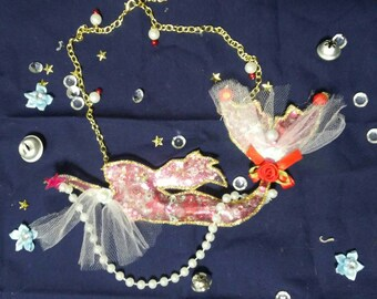 Sailor Mars mermaid necklace