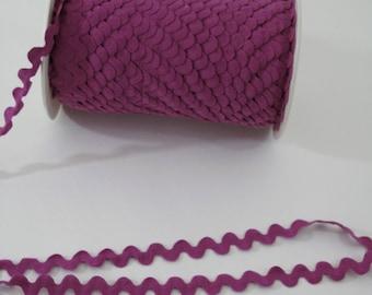 """Garniture de couture du croquet, Magenta violet Ric Rac, garniture Serpentine, 11/16"""" de large, 18 mm de large, 3 yards,"""