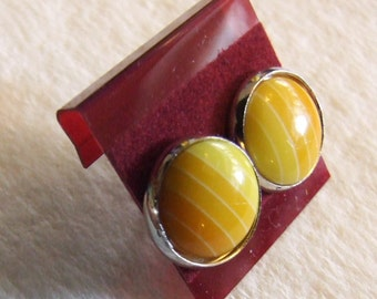 Yellow Rainbow  12 mm Post Earrings