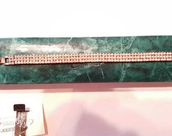 Brilliant Rhinestone Vintage Bracelet Gold Vermeil Suzanne Somers Vintage Jewelry