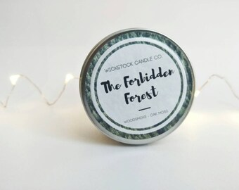 The Forbidden Forest 4oz Soy Candle | Bookish Candle Gift