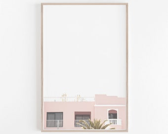 Pastel Wall Art,Digital Print,Pink Wall Art,Architectural Print,Instant Download,Pink Art Print,Pastel Print,Pink House Print,Wall Art Print