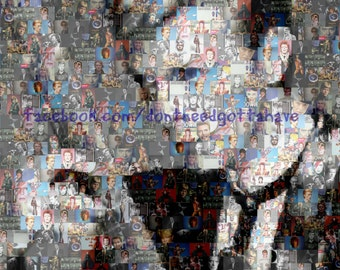 Huge David Bowie Guitar Mosaic Wall Art Music Picture Poster Amazing Low Price Digital Download