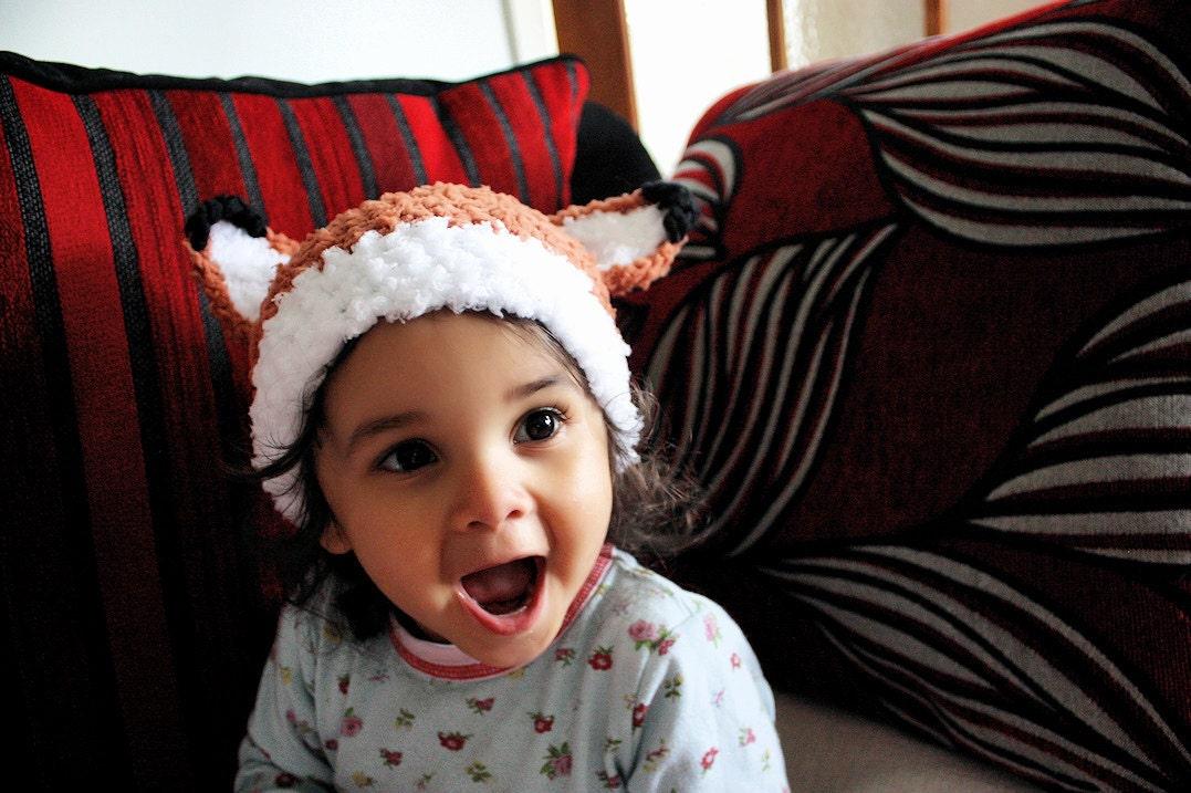 3 bis 6m Wald Fuchs Hut Baby Fuchs Tier Mütze häkeln Baby