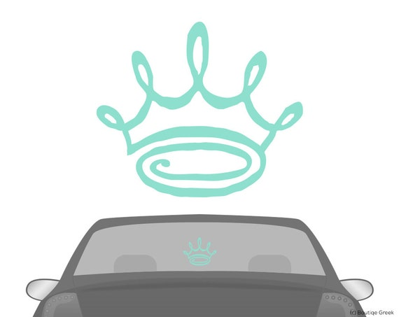 Zta zeta tau alpha doodle crown car laptop dorm window vinyl