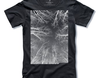 THE FOREST Tree T-shirt Mens T-shirt Graphic Tee Cool T-shirt Gift for Men Black Tee Shirt Size Small Medium Large XL 2XL 3XL Free Shipping