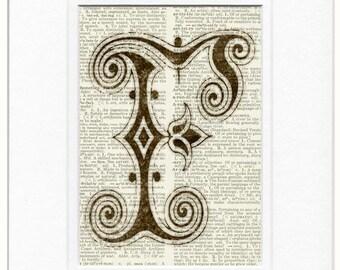 decorated initials print
