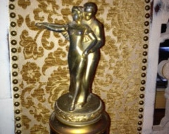 """Vintage 1941 First Place Tango Trophy Approx 16"""" Tall"""
