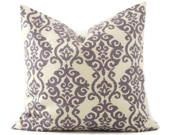 Lilac Pillow Cover, 20x20 Pillow Cover, Decorative Pillow for Couch, Accent Sofa Cushion Covers, Purple Pillow Waverly Luminary Lilac Fabric