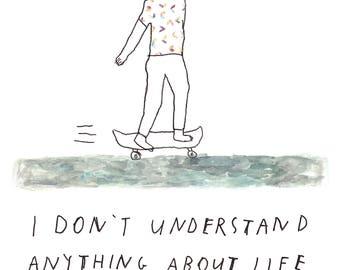 Skateboard  - Print