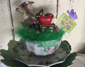 The Best Mom Mouse Tea Cup