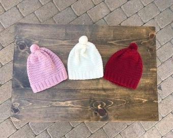 Toddler Slouchy Beanie; Crochet Beanie; Toddler Beanie