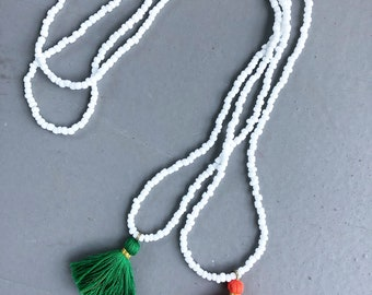 Handmade Tassel + Bead St. Patrick's Day Limited Edition Necklace Set