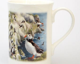 Puffin Bone China Mug