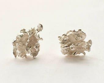 Alpine Lichen Stud Earrings