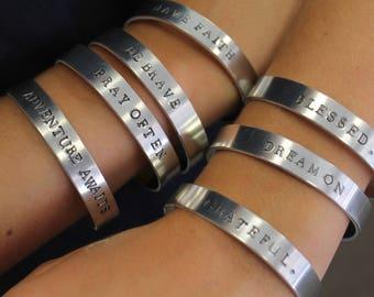 Hand Stamped Bracelets