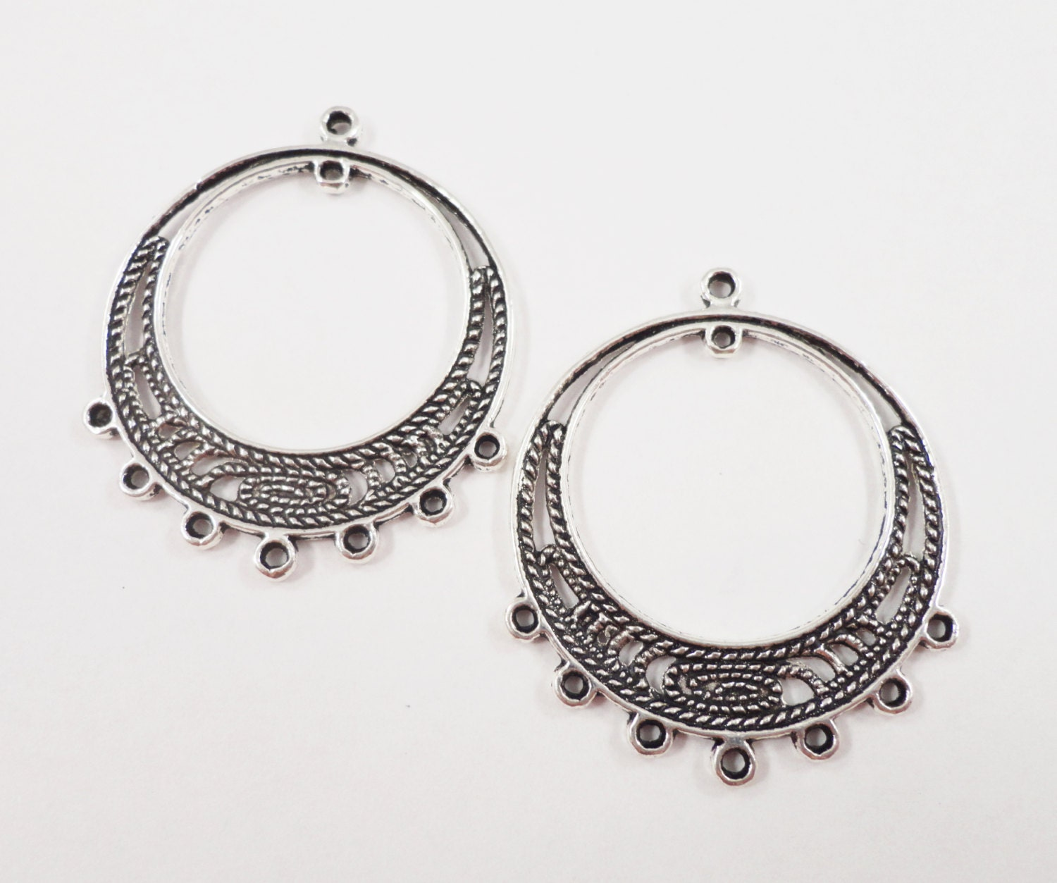 oxidised nrita the ko antique earrings silver jewellery products