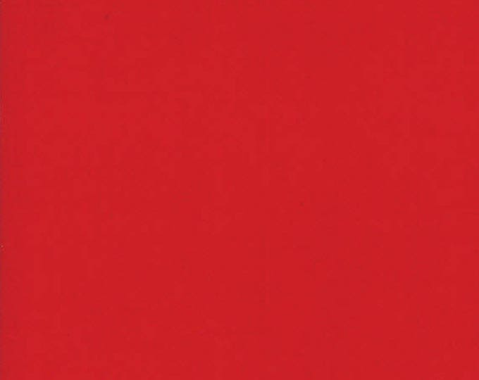 BELLA SOLIDS - Christmas Red - Solid Blender Cotton Quilt Fabric - from Moda Fabrics - 9900-16 (W4393)