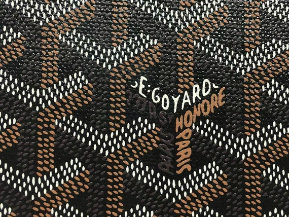 Goyard synthetic leather fabric from OrchideeNoire on Etsy ...