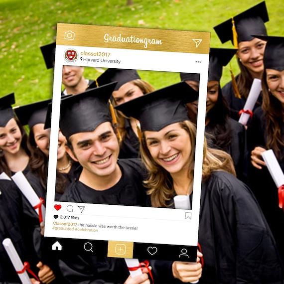 Graduation Instagram Frame Photo Booth Prop Bespoke Design