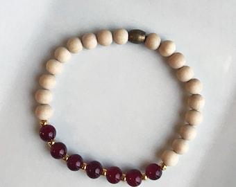 Sale** Red Essential Oil Diffuser Bracelet - Style C
