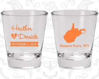 West Virginia Shot Glass, West Virginia Shot Glasses, West Virginia Glass, West Virginia Glasses, West Virginia Glassware (147)