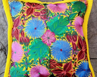 PILLOW COVER, Cojin Bordado, Mexican Art