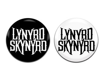 2x Lynyrd Skynyrd Band Blues Southern Rock 25mm / 1 Inch D Pin Button Badges