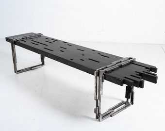 industrial bench, Beaubien Bench, handcrafted modern bench