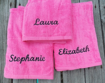Personalized Beach Towel Monogrammed Towel Monogrammed Beach