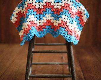 Baby CROCHET PATTERN Easy Blanket Afghan Newborn Car Seat Stroller Beginner Build A Granny Chevron